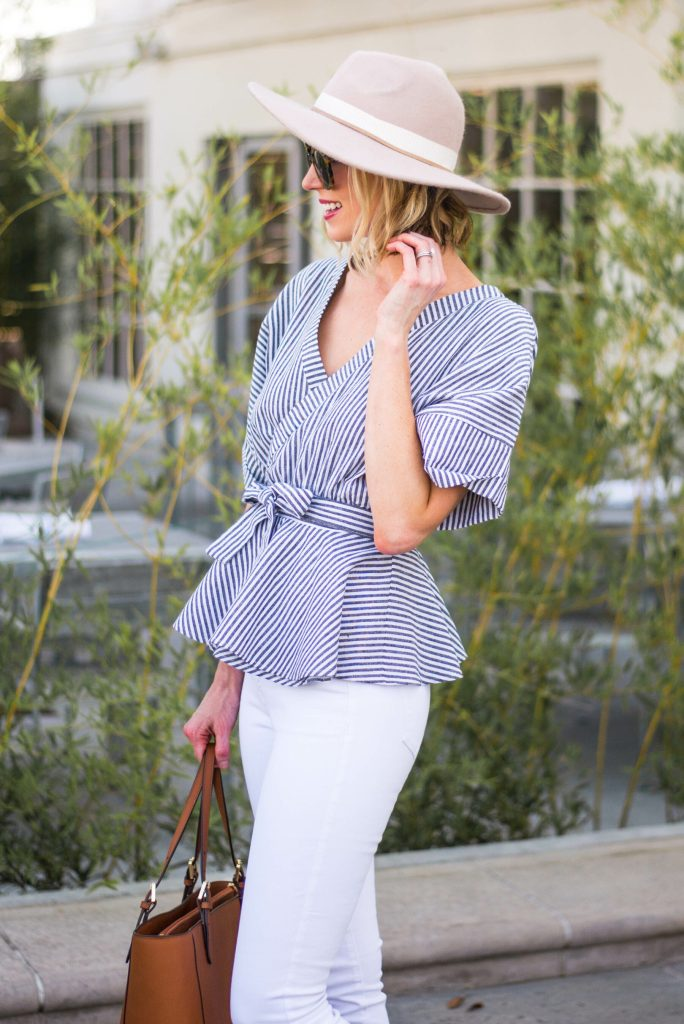 cute wrap style top and hat for summer
