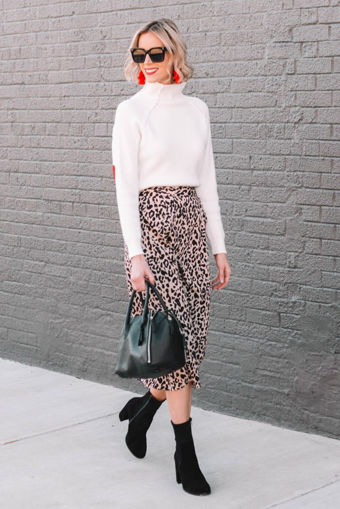 modern and fun work outfit for fall