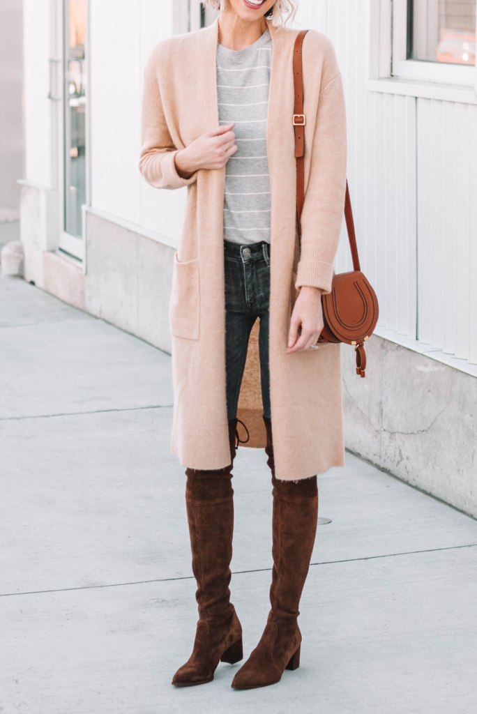 fall layers with over the knee boots