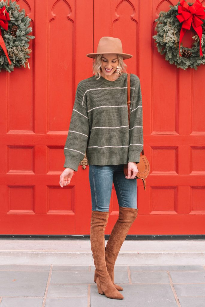 try pairing green with camel shoes and accessories