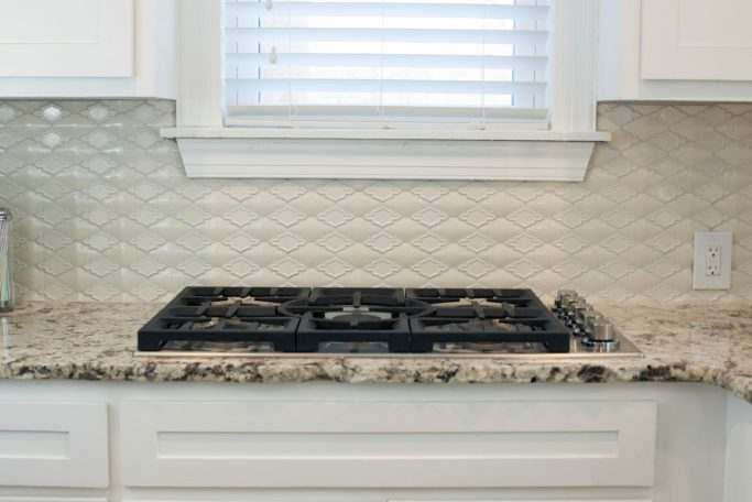 kitchen backsplash update with Millcreek Carpet & Tile