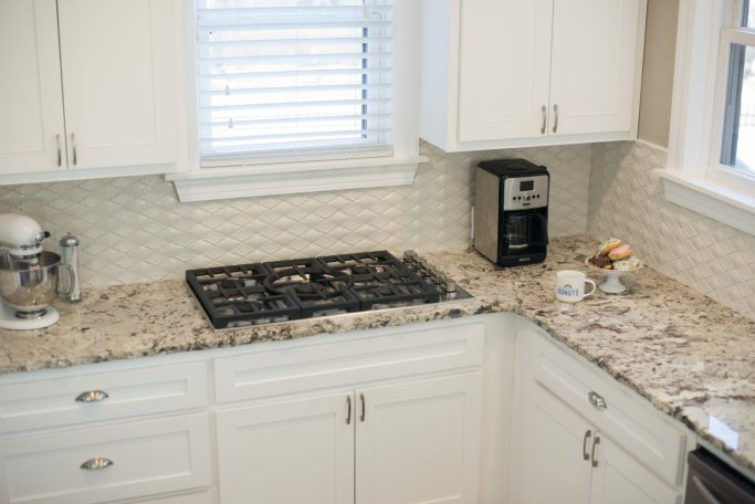 modern Spanish style kitchen backsplash