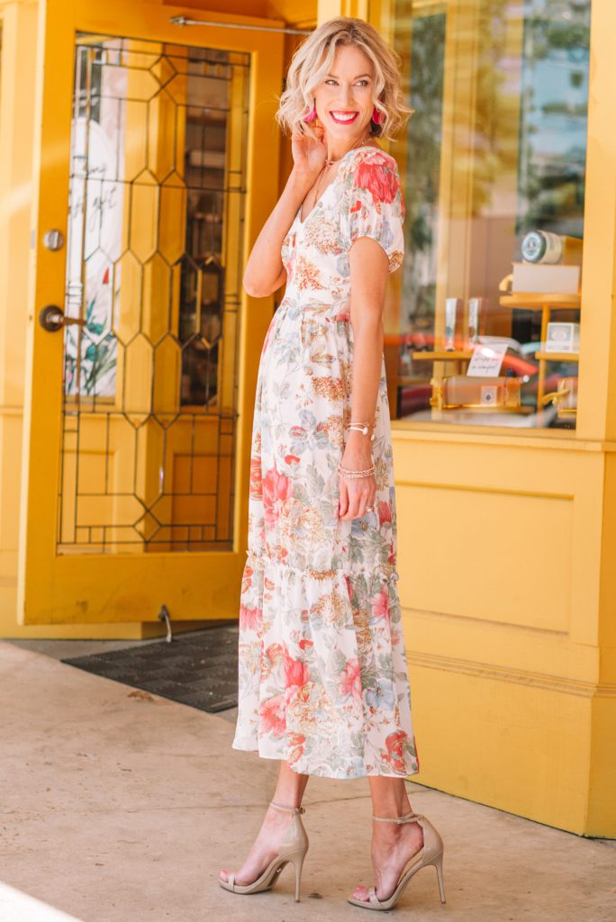 perfect event dress for spring and summer, floral dress