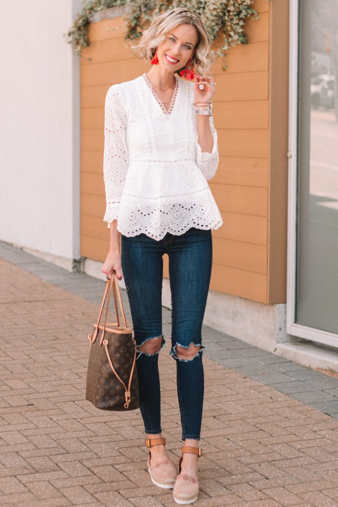 cute and casual spring outfit idea