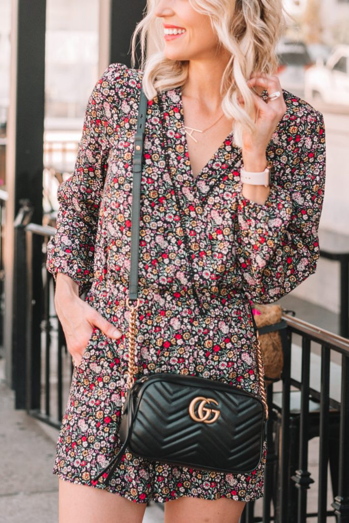 adorable long sleeve floral romper