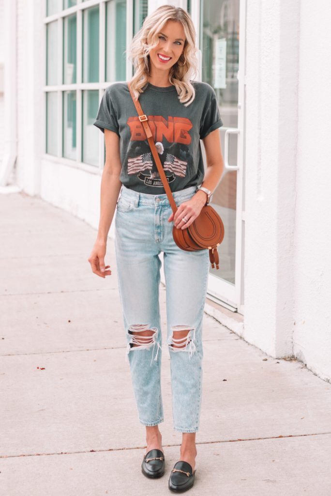 how to wear a graphic tee, graphic t-shirt, boyfriend jeans