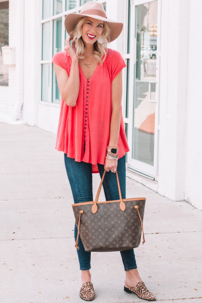 how to transition your look from summer to fall, easy transition of a tunic style t-shirt