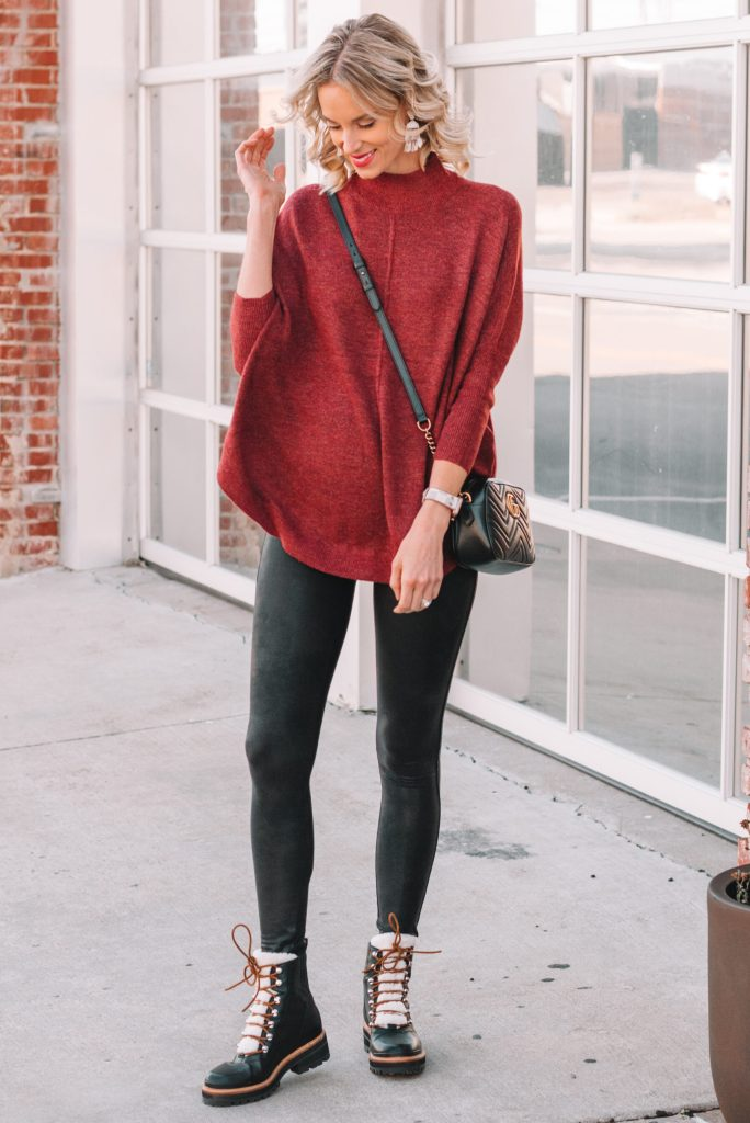 leggings and long sweater, leggings and boots, fall leggings outfit