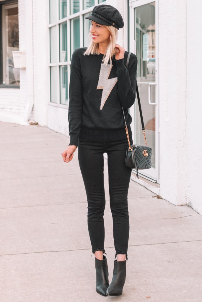 all black outfit, how to wear all black, styling tips for wearing all black