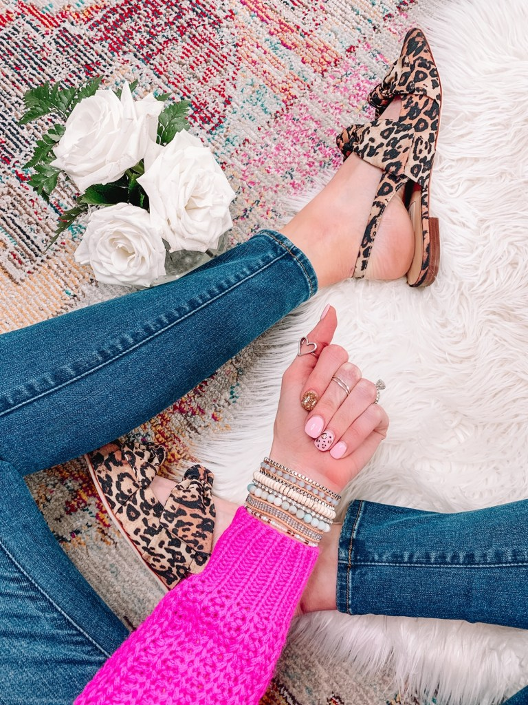 spring nails, leopard nails, manicure inspiration, nail design, spring nail design