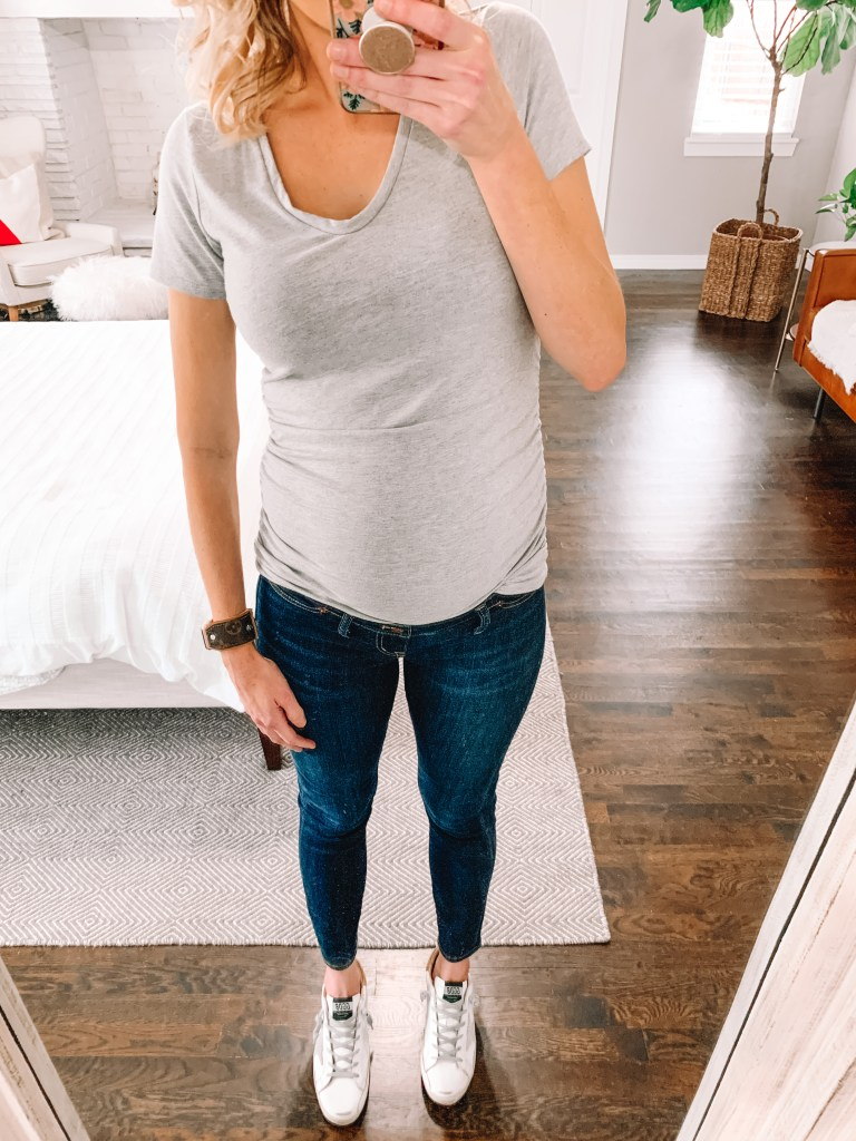 side panel maternity jeans
