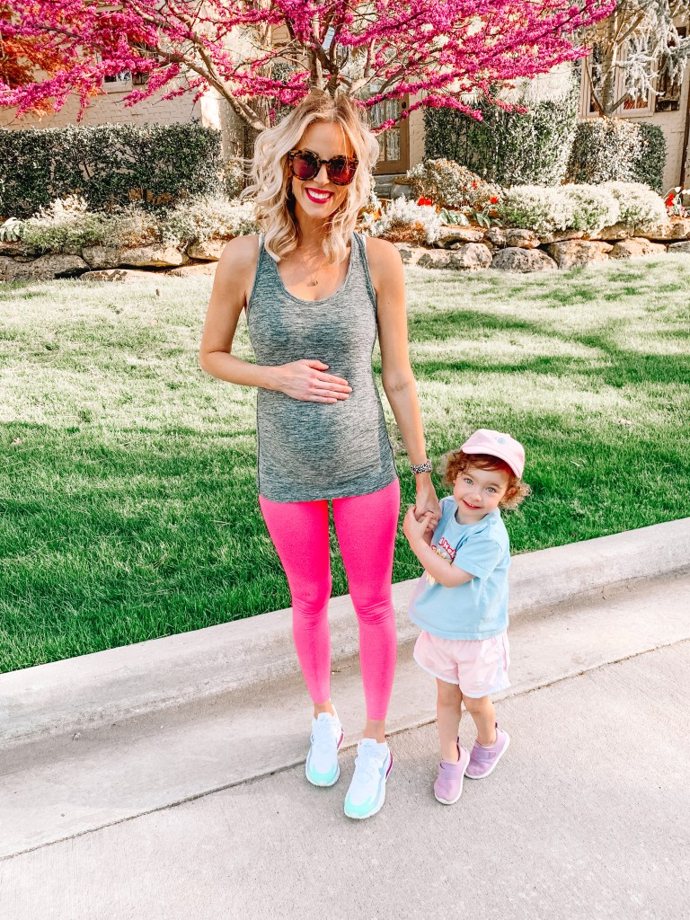 My bright pink maternity leggings are a favorite of mine! Sharing the details on my instagram roundup blog post.