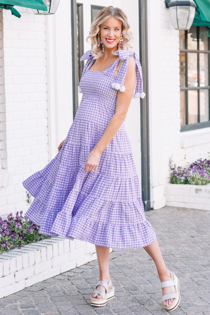 Gorgeous Purple Gingham Sundress