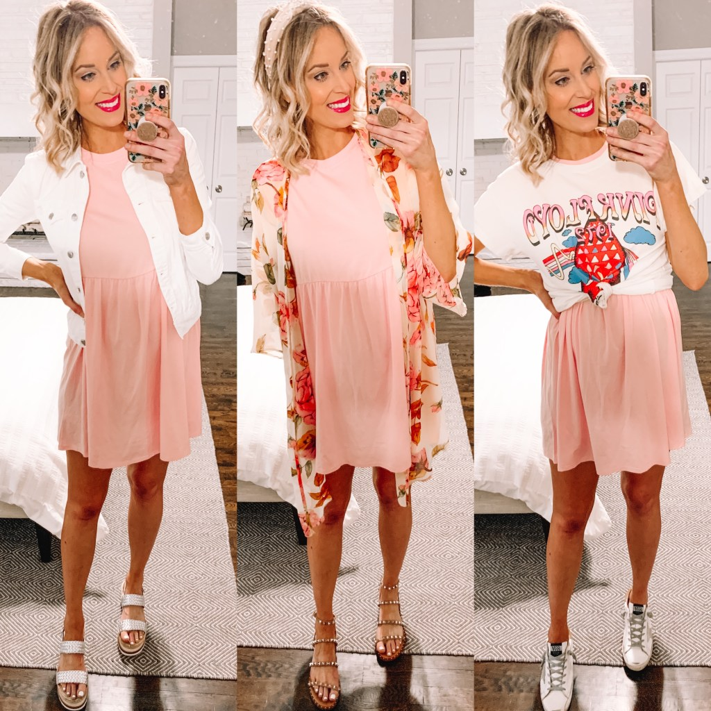 In my Instagram roundup, I am sharing this super affordable pink dress. It is all cotton and so easy to style!