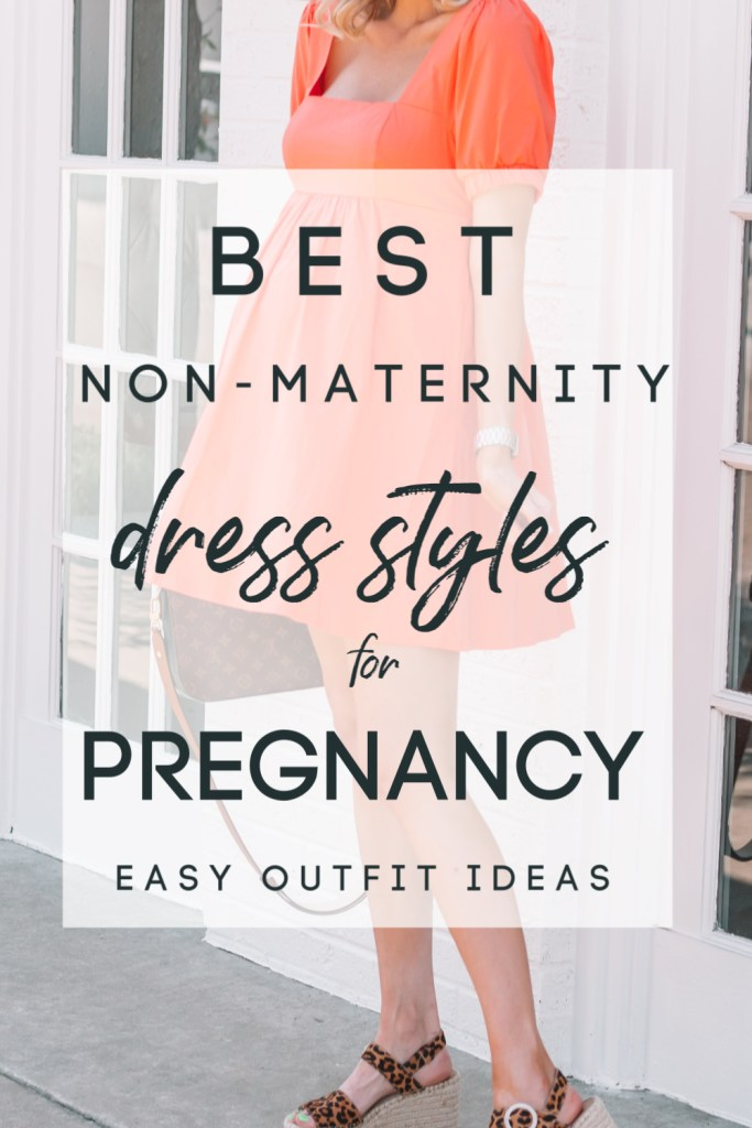I've found quite a few dresses that are not maternity that work perfectly for my bump. Dresses lend themselves well to this! I thought today I would roundup the best non-maternity dress styles for pregnancy.