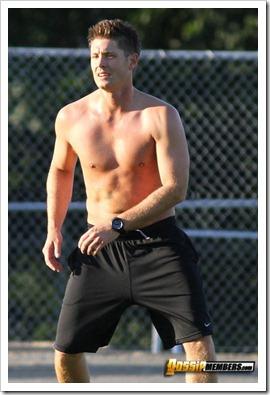 Jensen Ackles shirtless