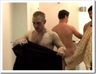 three guys naked in a gym locker room (10)