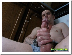 boys pissing - Hung Nolan Piss And Stroke (4)