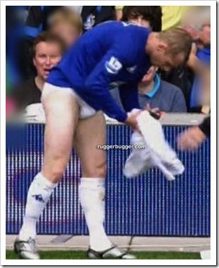 English footballer Tony Hibbert changing out  (2)