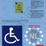 specimen gehandicapten parkeerkaart