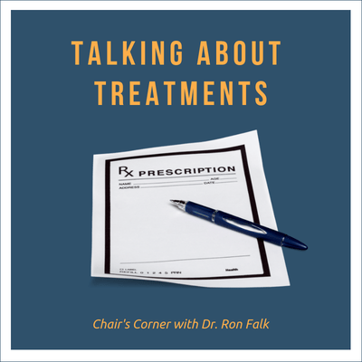 chair's corner podcast talking about treatments