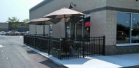 Commercial Aluminum Fence Around Outdoor Seating Area ...