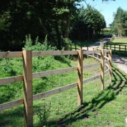 Sawn Post Rail Fencing