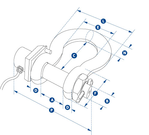 Straightpoint Wireless Load Shackle, Scales, Gauges