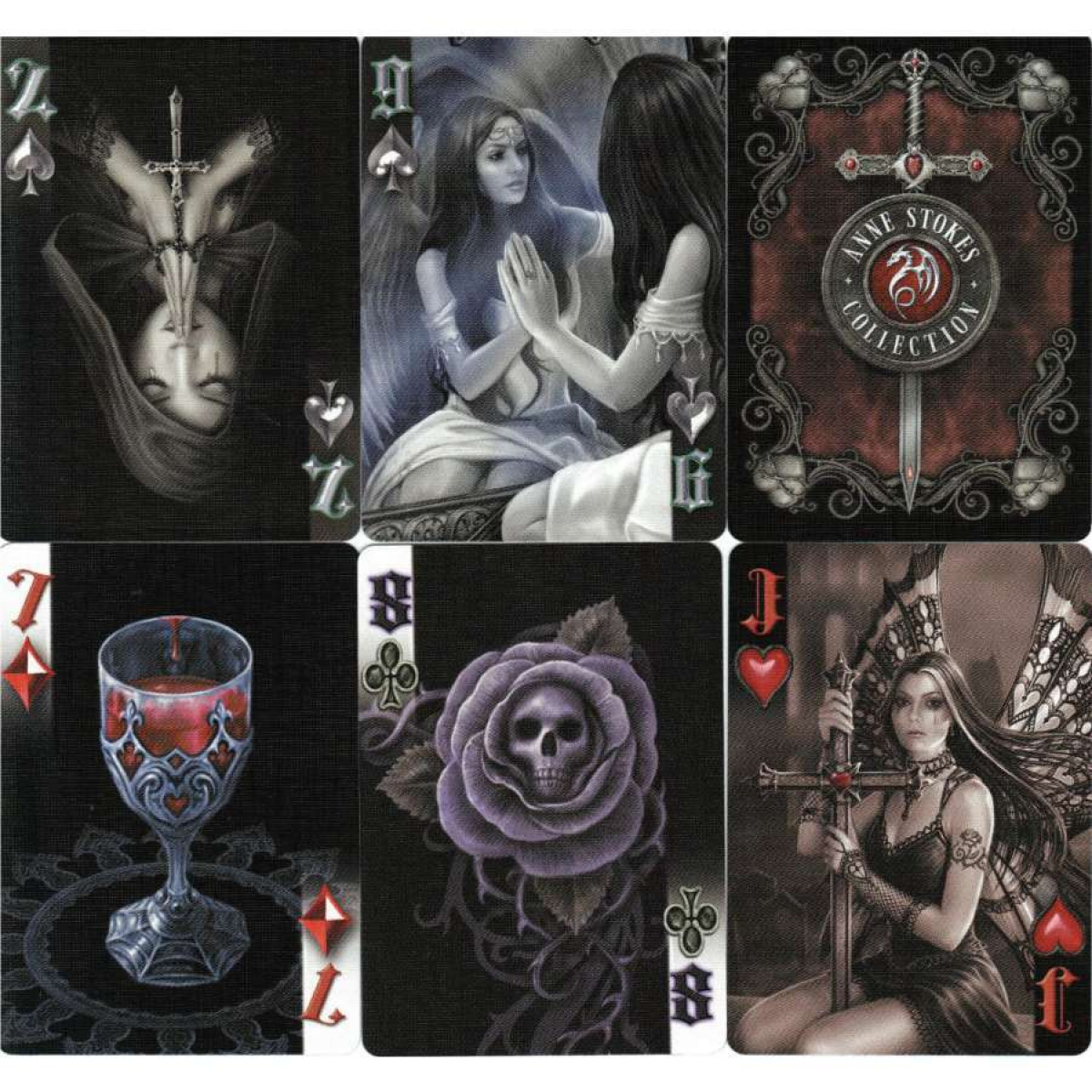 Bicycle Anne Stokes Collection Dark Hearts  Bicycle