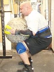 Atlas stone lifting with strap
