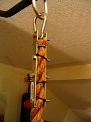 Climbing rope attachment