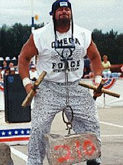 Bubba performing a 210lb neck lift