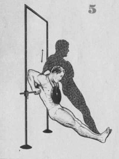 Weighted dip in rack