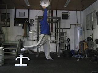 Overhead Split Squat