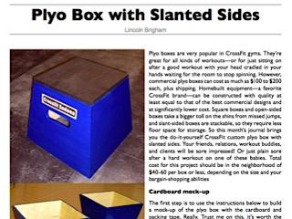DIY Plyometric Boxes