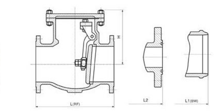 API standard cast steel swing check valve with eye bolt