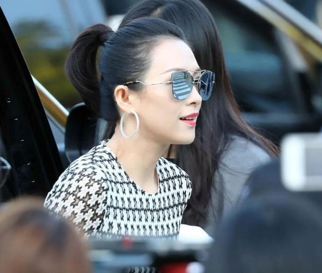 Chinese Actress Zhang Ziyi Arrives To Attend The Wedding Of South Korean Actress Song Hye Kyo And Actor Song Joong Ki In Seoul On Oct   Photo Afp