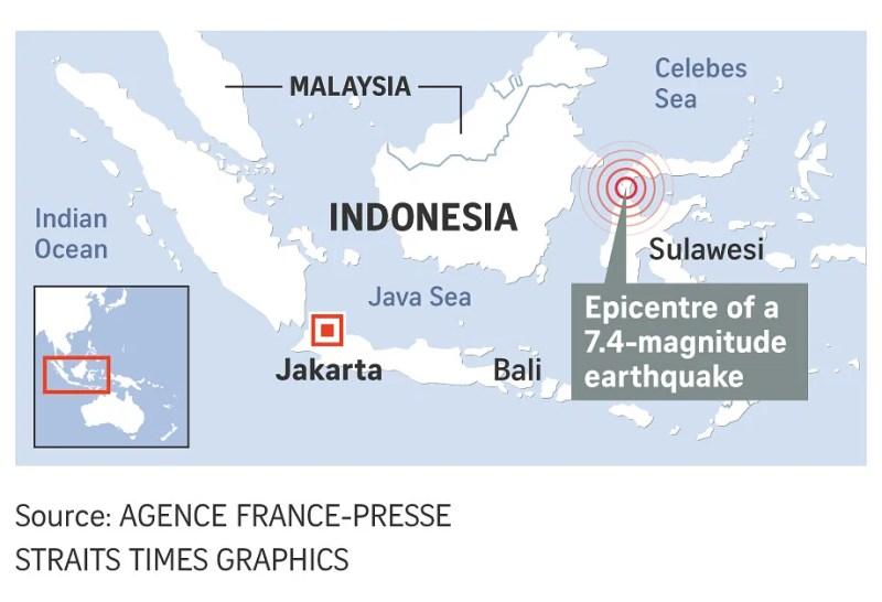 Число жертв землетрусу і цунамі в Індонезії зросла до 1,2 тисячі
