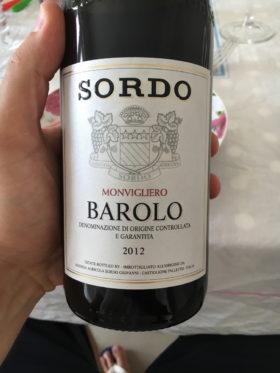 Barolo Monvigliero 2012, Sordo