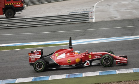 Formel1 Training in Jerez de la Frontera 2014