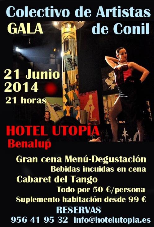 Kunstgala von Conil im Hotel Utopia in Benalup