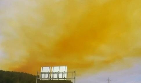 Giftwolke über Spanien