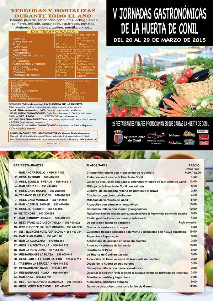 V Jornadas Gastronomicas Conil