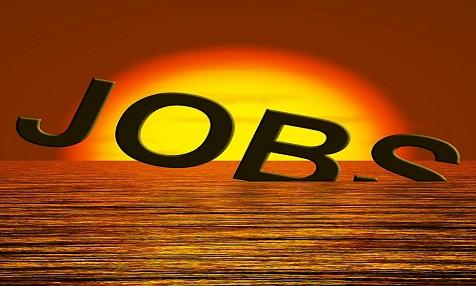 Jobs Word Sinking Showing Job Layoffs And Unemployment