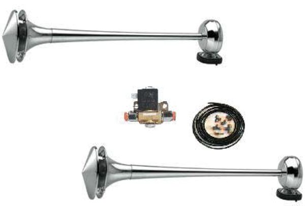 Air horn kit Stainless steel, incl. Bracket + front cover
