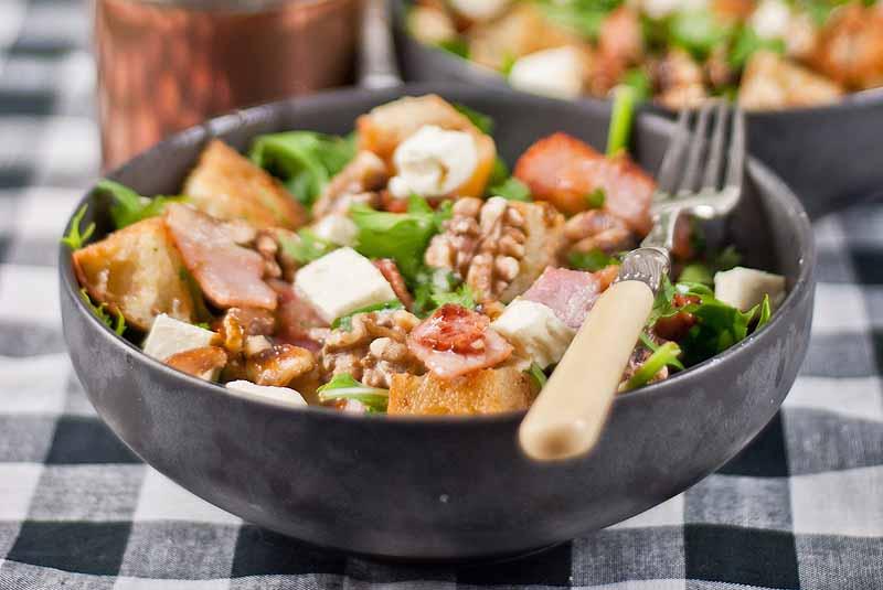 Bacon, Feta & Walnut Salad