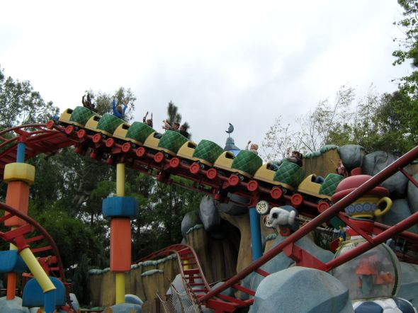 The rollercoaster in Fantasyland