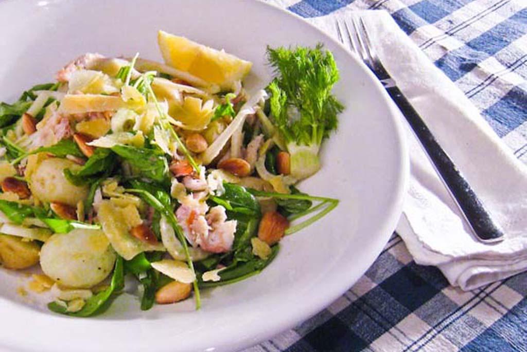 Perla, smoked fish, rocket and fennel salad