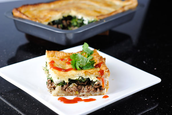 Beef, Spinach and Feta Pie