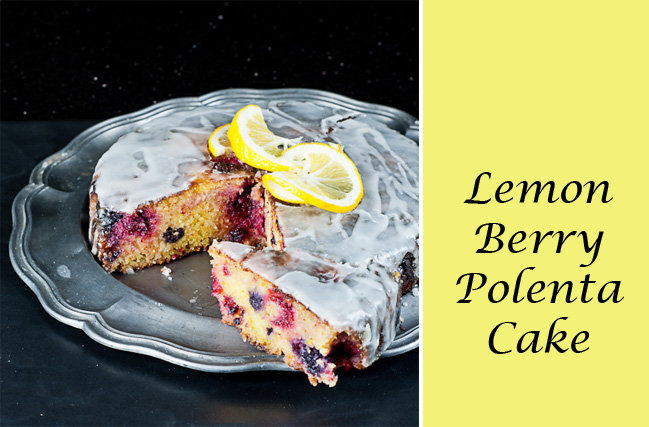Lemon Berry Polenta Cake - Gluten free recipe